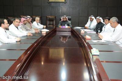 لجنة حقوق وشكاوي المرضى بالمستشفى تعقد إجتماعها الدوري