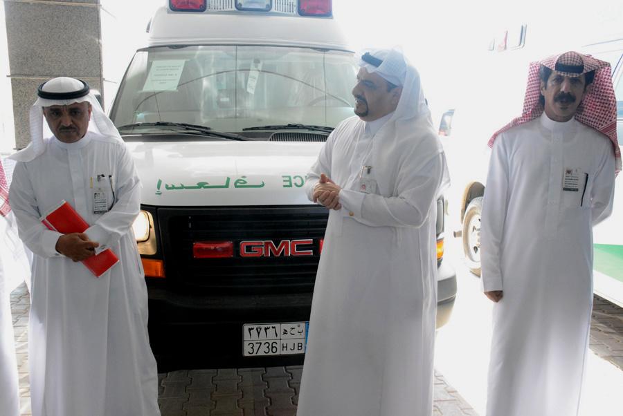 سيارة إسعاف حديثة ومجهزة لمستشفى بريدة المركزي