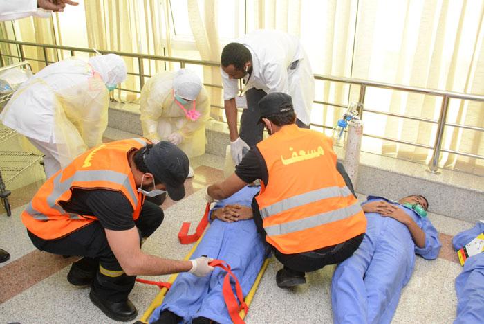 تجربة وهمية لخطة طوارئ فرضية بقسم الجراحة بمستشفى بريدة المركزي