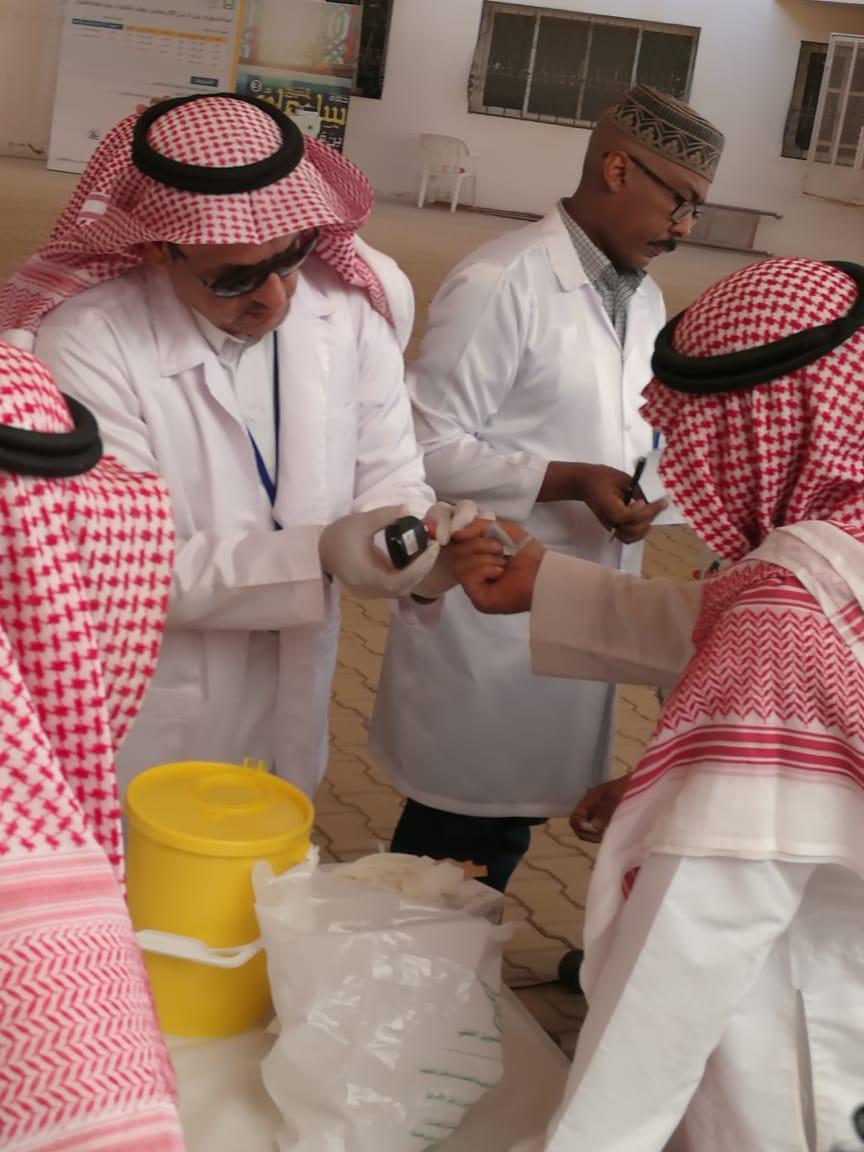 مركز صحي الخليج يفعل حملة #صم_بصحة بجامع الإمام محمد بن عبد الوهاب