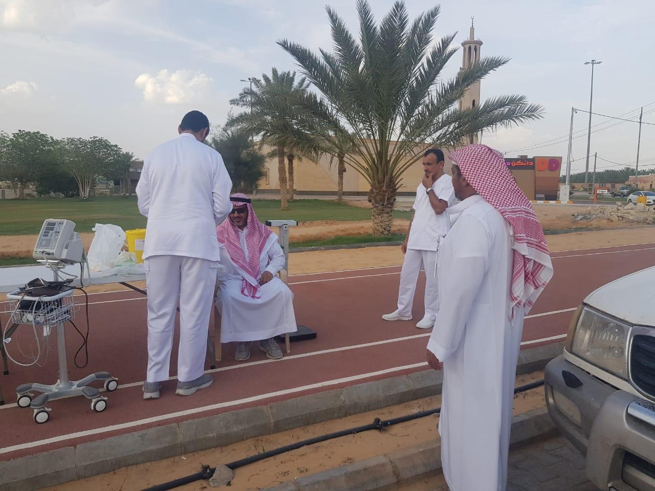 مركز صحي البصر يفعل حملة #صم_بصحة بحديقة الأمير فيصل بن مشعل بن سعود