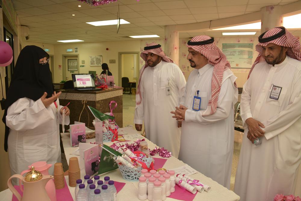 مدير مركزي بريدة يشهد فعاليات التوعية بسرطان الثدي بمركز صحي الشماس